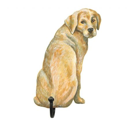 Golden Labrador Shaped Single Hook